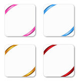 Gift cards. Tied with colorful ribbons. Vector illustration Stock Photo