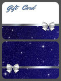 Gift cards. Two gift cards with abstract design vector illustration