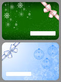 Gift cards. Two gift cards with Christmas design vector illustration
