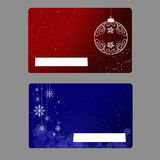 Gift cards. Two gift cards with Christmas design royalty free stock image