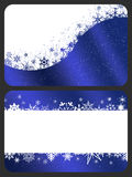 Gift cards. Two gift cards with Christmas design stock illustration