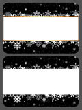 Gift cards. Two gift cards with Christmas design stock images