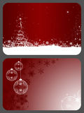 Gift cards. Two gift cards with Christmas design stock image