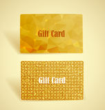 Gift cards. Two gift cards with geometric shapes and textures Royalty Free Stock Image