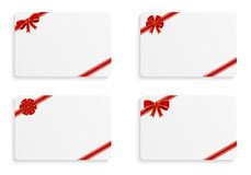 Gift cards. With various bows Stock Image