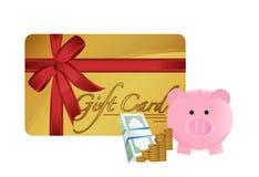 Gift cart savings illustration design Stock Photo