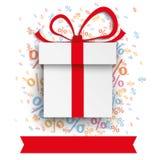 Gift Carton Percents Banner Stock Photography