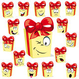 Gift cartoon Stock Photography