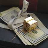Gift With Cash Stock Photography