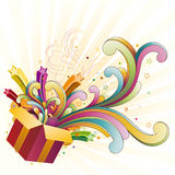 Gift and celebration. Gift box and star,celebration design element royalty free illustration