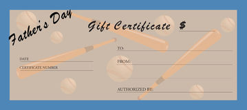 Gift certificate. Royalty Free Stock Images