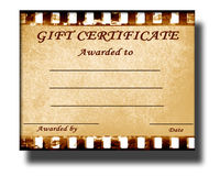 Gift certificate Stock Photography