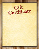 Gift certificate Royalty Free Stock Photos