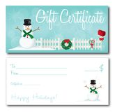 Gift certificate christmas holidays design vector Stock Photography