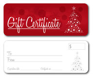 Gift Certificate Christmas vector Stock Photos