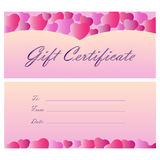 Gift certificate coupon template Stock Photo