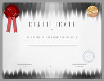 Gift certificate, diploma, coupon, award of course completion Royalty Free Stock Photo