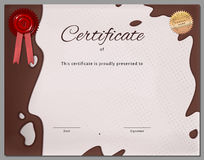 Gift certificate, diploma, coupon, award of course completion Stock Images