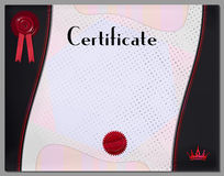 Gift certificate, diploma, coupon, award of course completion Royalty Free Stock Images
