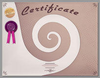 Gift certificate, diploma, coupon, award of course completion Stock Photo