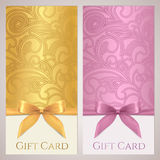 Gift certificate, gift card, Coupon template stock image