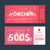 Gift certificate with gifts Royalty Free Stock Photo