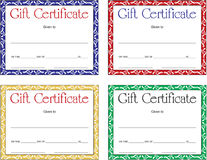 Gift Certificate Set Royalty Free Stock Images