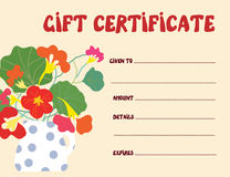 Gift certificate template funny design Royalty Free Stock Photography
