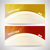 Gift certificate voucher background Royalty Free Stock Images
