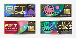 Gift certificate voucher coupon card background template. Eps.10 Stock Image