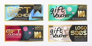 Gift certificate voucher coupon card background template. Eps.10 Royalty Free Stock Image