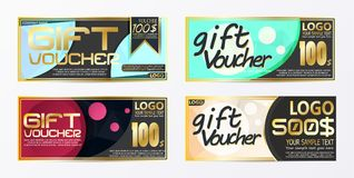 Gift certificate voucher coupon card background template. Eps.10 Royalty Free Stock Photography