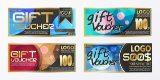Gift certificate voucher coupon card background template. Eps.10 Stock Photo