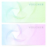 Gift certificate, Voucher, Coupon template. Color Royalty Free Stock Photography