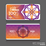 Gift certificate voucher coupon template Royalty Free Stock Image