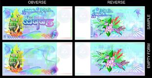Funny banknotes of Atlantis with a Masonic sign. Royalty Free Stock Photos