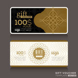 Gift certificate voucher coupon template Stock Photography
