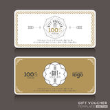 Gift certificate voucher coupon template Royalty Free Stock Photo