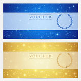 Gift certificate, Voucher, Coupon template. Stars royalty free illustration
