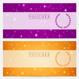 Gift certificate, Voucher, Coupon template. Stars stock images