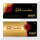 Gift certificate, voucher, gift card or cash coupon template in Stock Photos