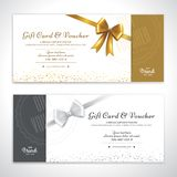 Gift certificate, voucher, gift card or cash coupon template in vector format. For client complimentary vector illustration