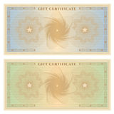 Gift certificate (voucher) template with borders vector illustration