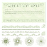 Gift certificate (voucher) template with borders  Stock Photography