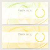 Gift certificate (Voucher, ticket, coupon). Color Royalty Free Stock Photos