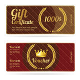 Gift certificate voucher. Vector Royalty Free Stock Photography