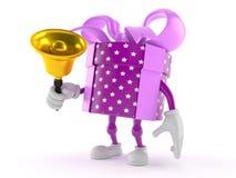 Gift character ringing a handbell Stock Image