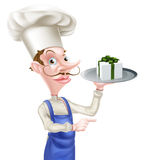 Gift Chef Pointing Stock Images
