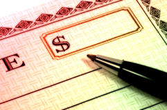 Gift Cheque royalty free stock images