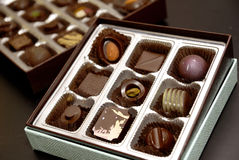 Gift chocolate Stock Images